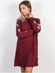 VOLCOM šaty WHAT A TRIP Zinfandel