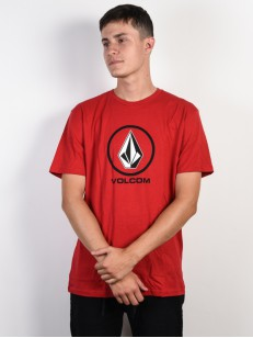 VOLCOM triko CRISP STONE Engine Red