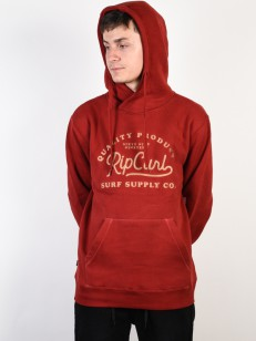 RIP CURL mikina SURF SUPPLY CO. RED