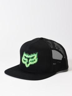 FOX kšiltovka FLAME HEAD Black/Green