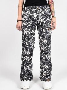 ROXY kalhoty NADIA PRINTED OYSTER GRAY HAWAIIAN PA