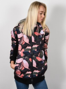 ROXY mikina FROST PRINTED LIVING CORAL PLUMES
