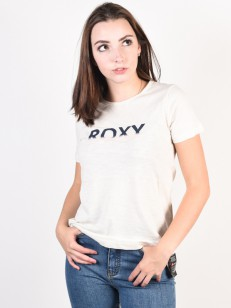ROXY tričko RED SUNSET CORPO SNOW WHITE