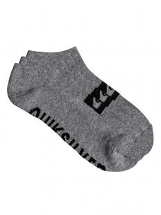 QUIKSILVER ponožky ANKLE 3PACK LIGHT GREY HEATHER