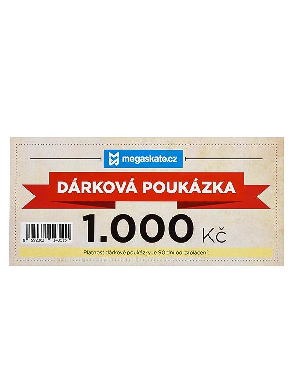 Megaskate Dárková Poukázka 1000,- Kč Wht bílá