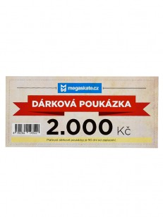 MEGAskate dárková poukázka 2000,- Kč  WHT
