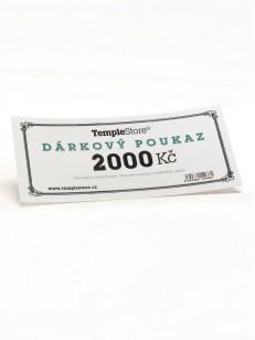 TEMPLESTORE dárková poukázka 2000,- Kč  WHT