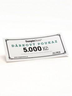 TEMPLESTORE dárková poukázka 5000,- Kč  WHT